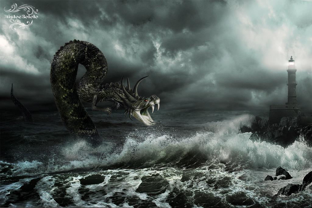 Sea Dragon (Leviathan) by 4istoe3oloto on deviantART
