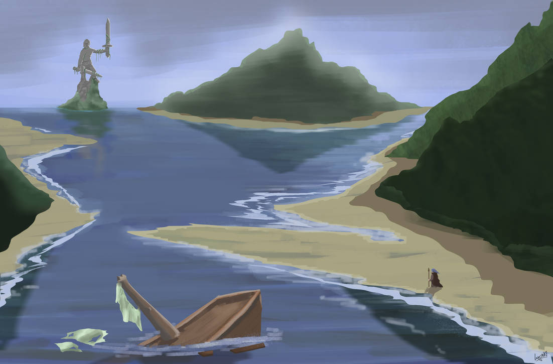 Lost On The Beach Concept Art Photoshop By Lycandraws