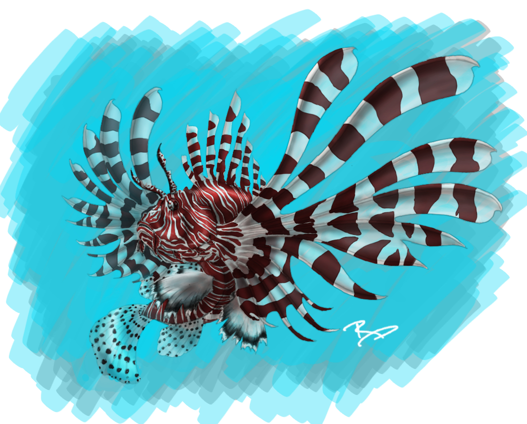 Lionfish Concept Art by Mndlssphnxxx