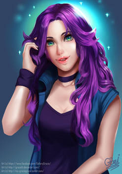 Abigail from Stardew Valley by JazmeniaGB