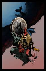 Hellboy Batman Inks By Penickart Color