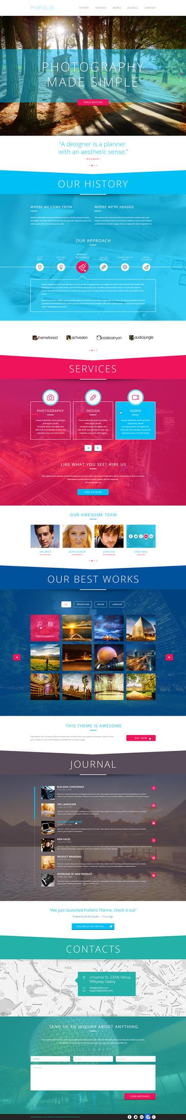 Pixfolio - Creative One Page Portfolio by heavenzART
