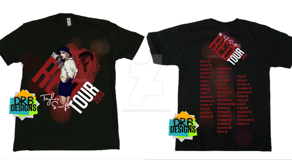1c790af3e Taylor Swift - The Red Tour shirt by UniqueSanity on DeviantArt