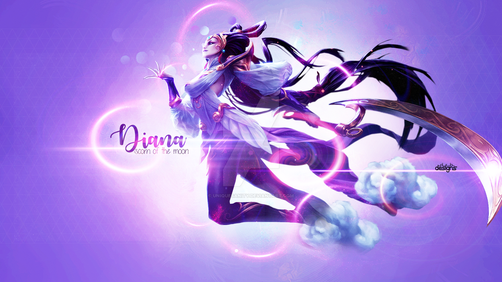 Diana Lunar Goddess League of Legends Wallpaper by UniqueSanity