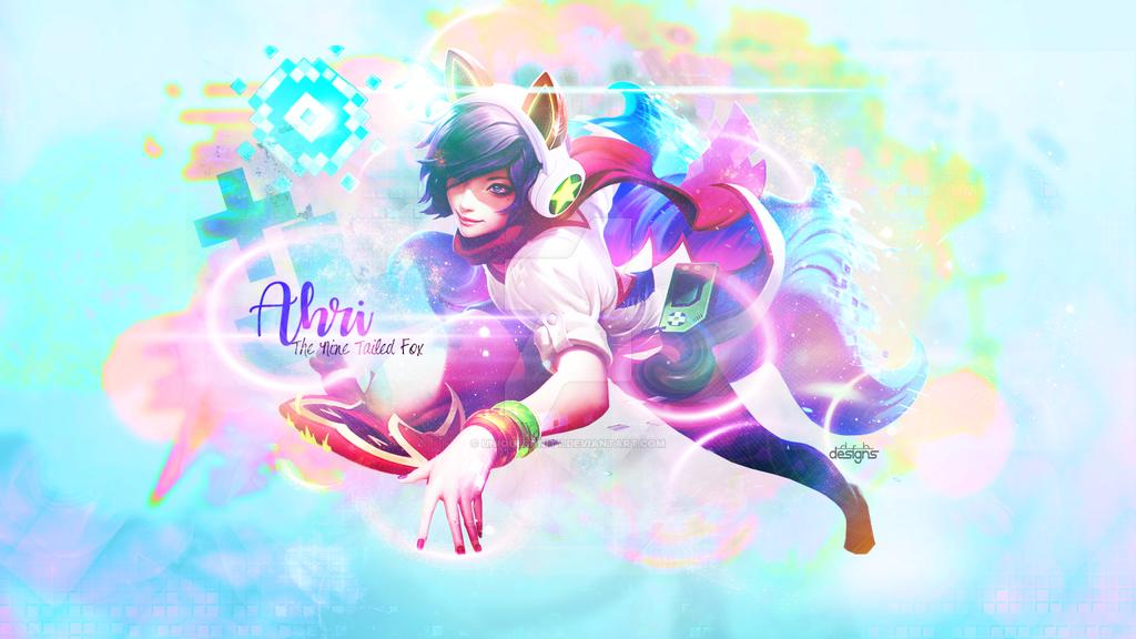 Ahri Arcade League of Legends Wallpaper by UniqueSanity