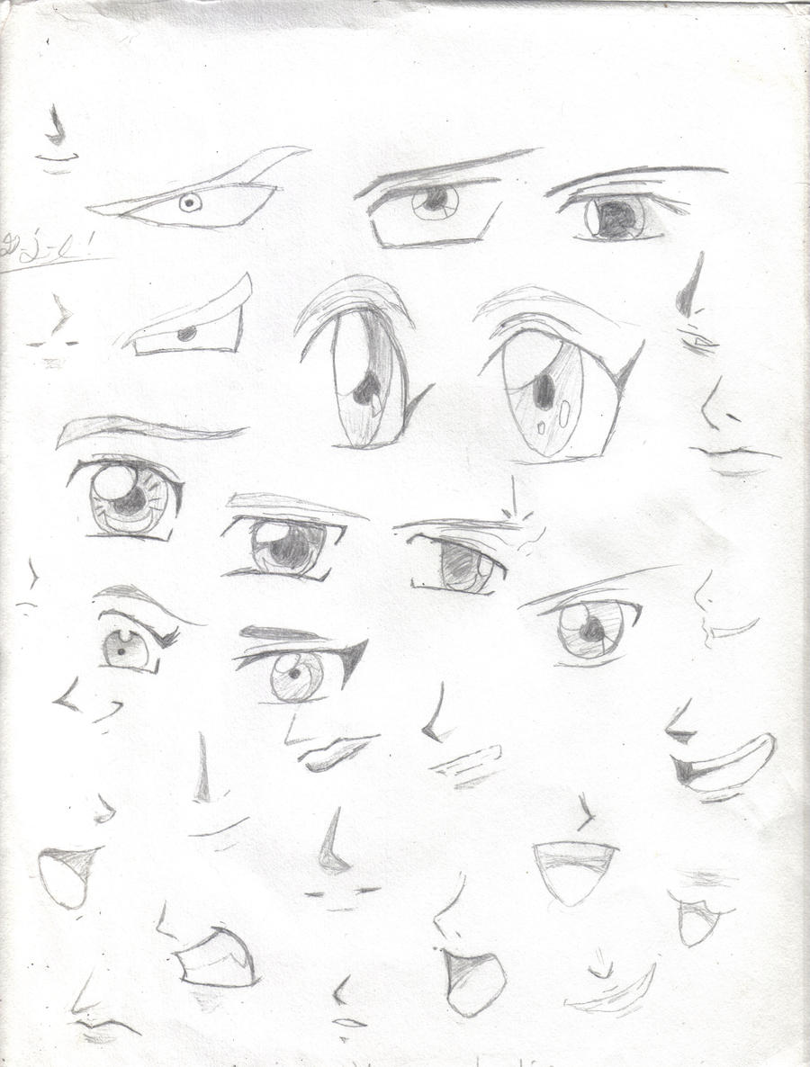 Anime Manga Eyes Mouths Noses By Blood4UndeadSoul 000 On DeviantArt
