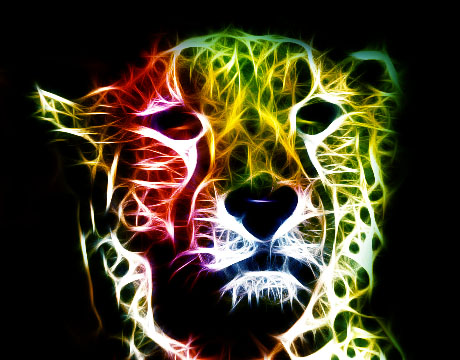 Cheetah Fractal by Ishtar-the-guardian