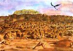 Dragon over Goblin Valley (Watercolour Study)