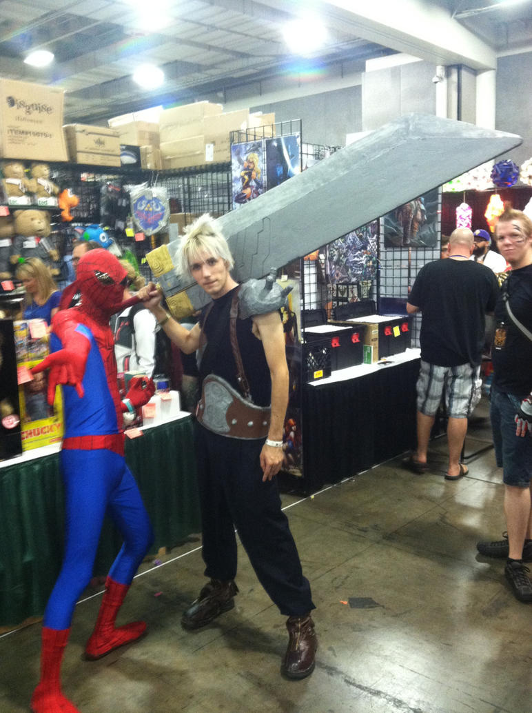 Spider-Man and Cloud Strife by fireemblemspider