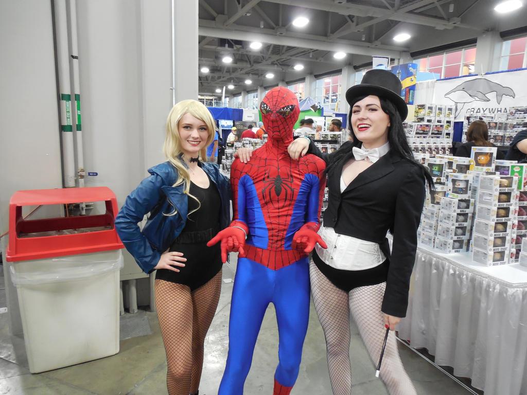 Spider-Man, Black Canary, Zatanna by fireemblemspider