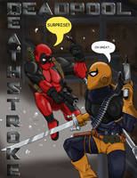 Deadpool vs. Deathstroke by Atomi-Cat