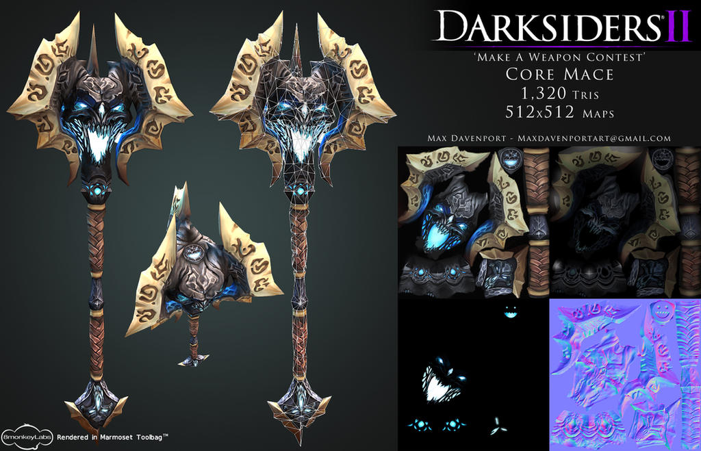Darksiders II 'Create A Weapon' Contest - Mace by suburbbum