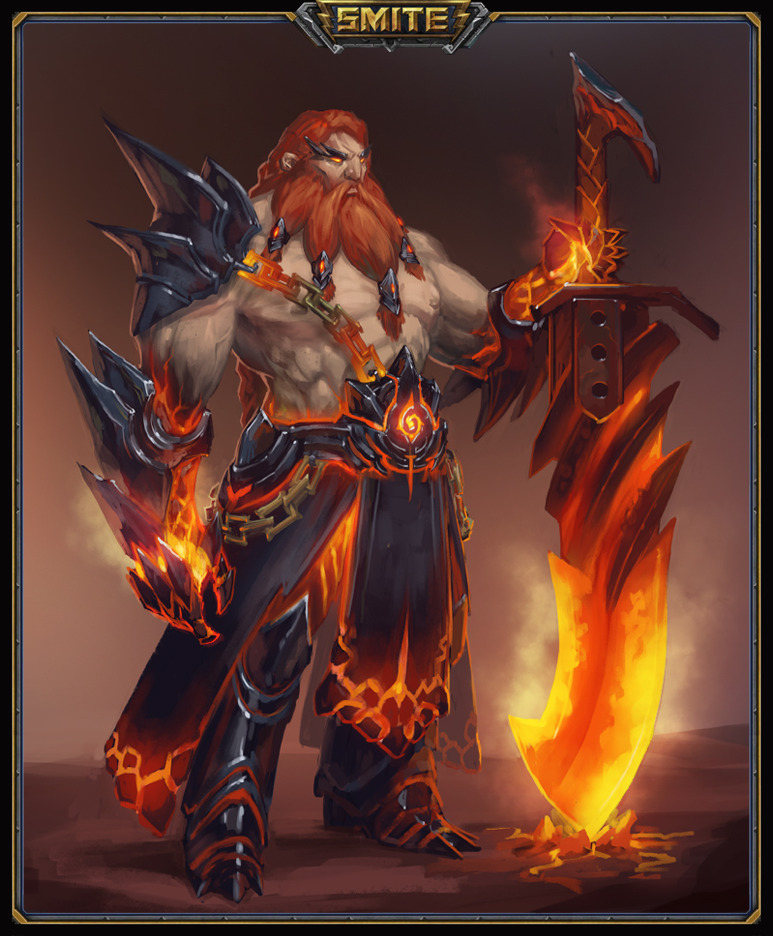 smite fire giant by suburbbum on deviantart. Black Bedroom Furniture Sets. Home Design Ideas
