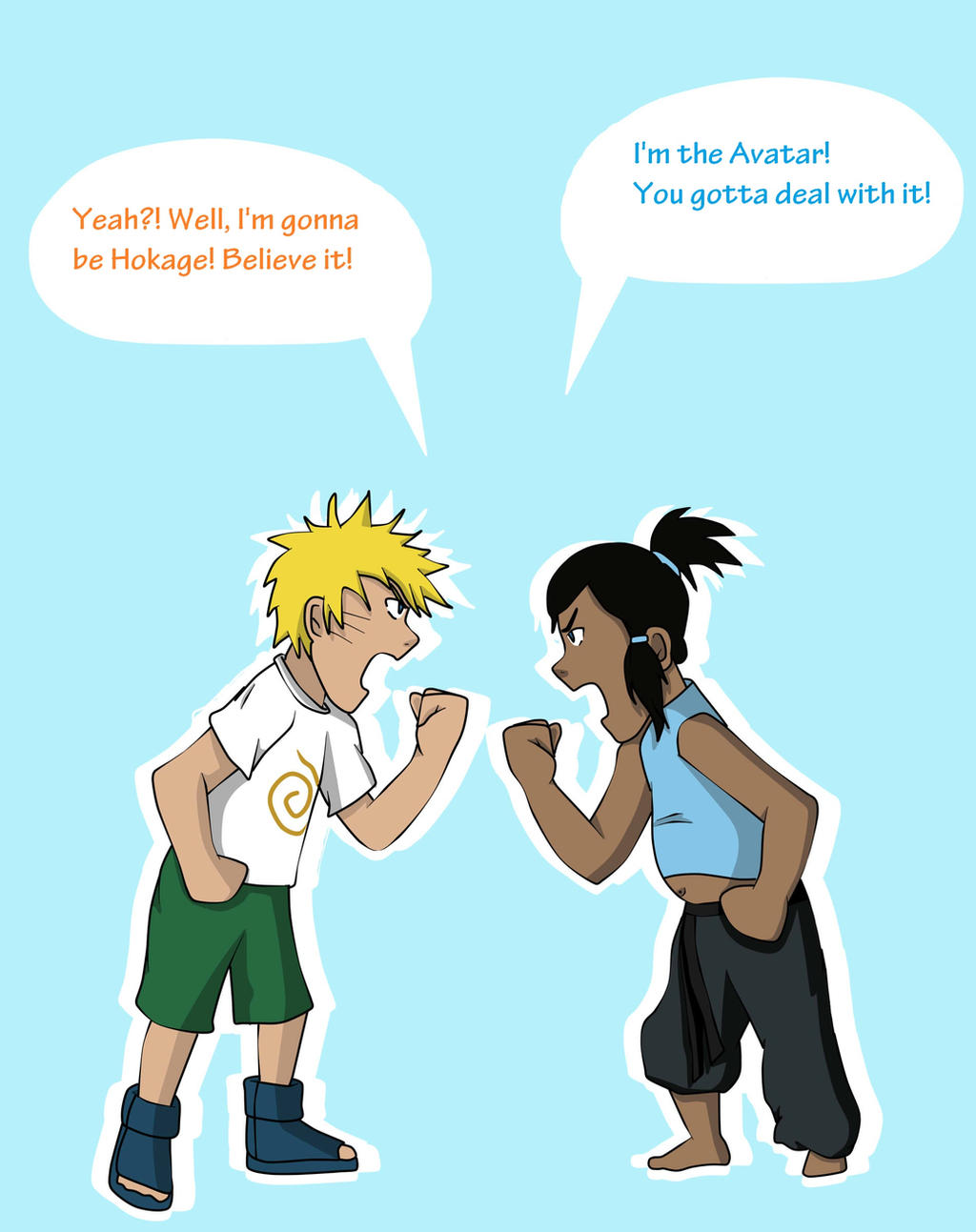 Young Naruto and Korra by MagicBells on DeviantArt  Young Naruto an...