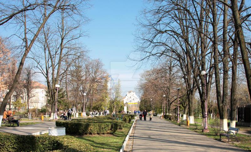 Parcul Cancicov in martie 2010