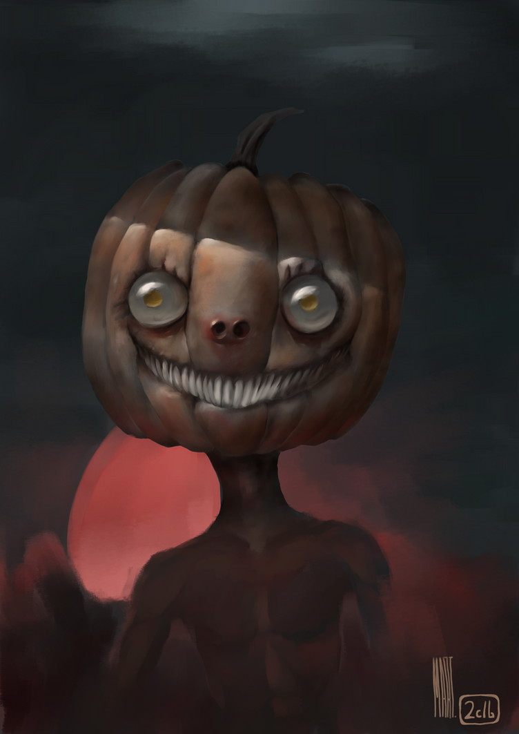 Spooky Pumping boy by MarTs-Art