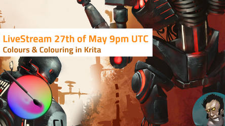 Mart's LiveStream Colour and Colouring in Krita