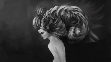 Silence WIP | Krita Livestream Progress by MarTs-Art
