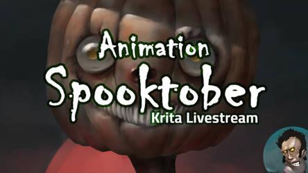Krita Spooktober Animation Livestream 7pm UTC