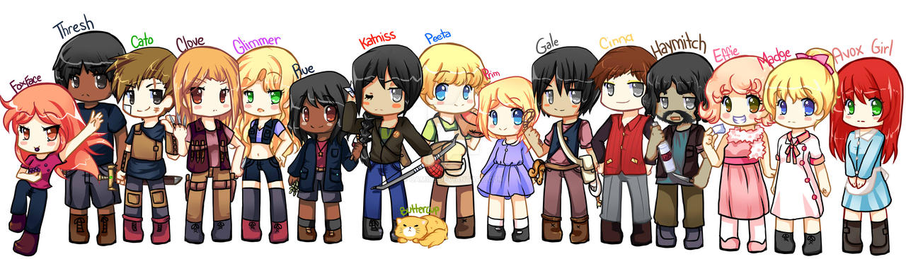 The hunger games characters by CamiIIe