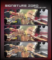 Signature Roronoa Zoro