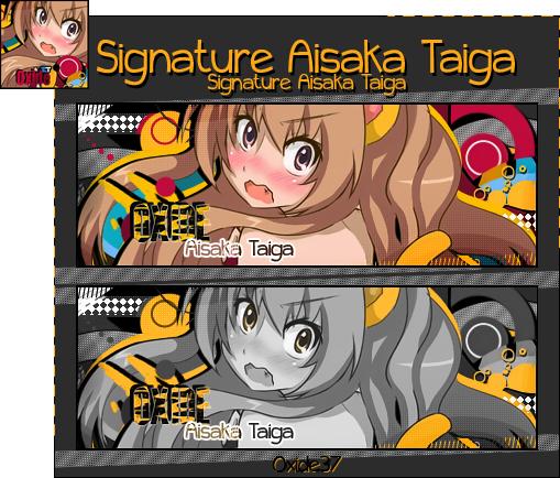 .:Oxideograph:. Signature_aisaka_taiga_by_oxide37-d4rqllj