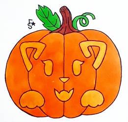 Inktober 2018 #7: Cat_O_Lantern