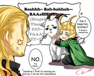 Thor, Loki, and gangster goat