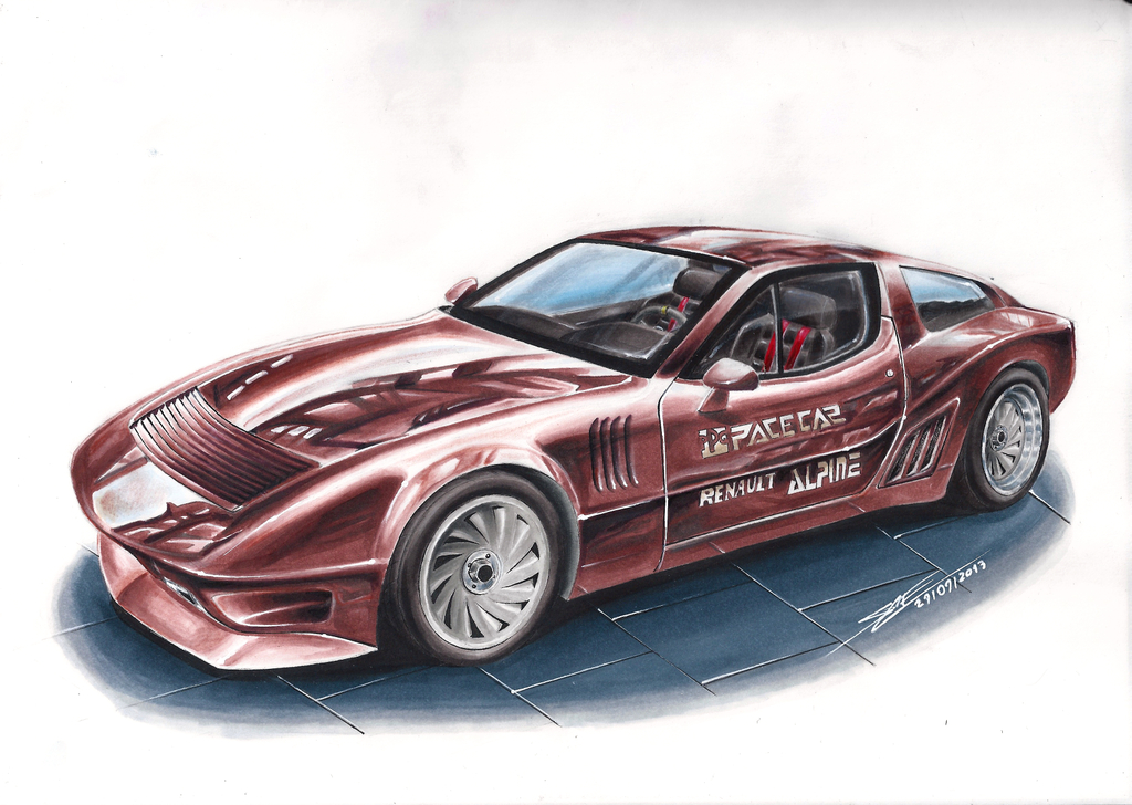 alpine renault a310 ppg pace car speed drawing by mglola on deviantart. Black Bedroom Furniture Sets. Home Design Ideas
