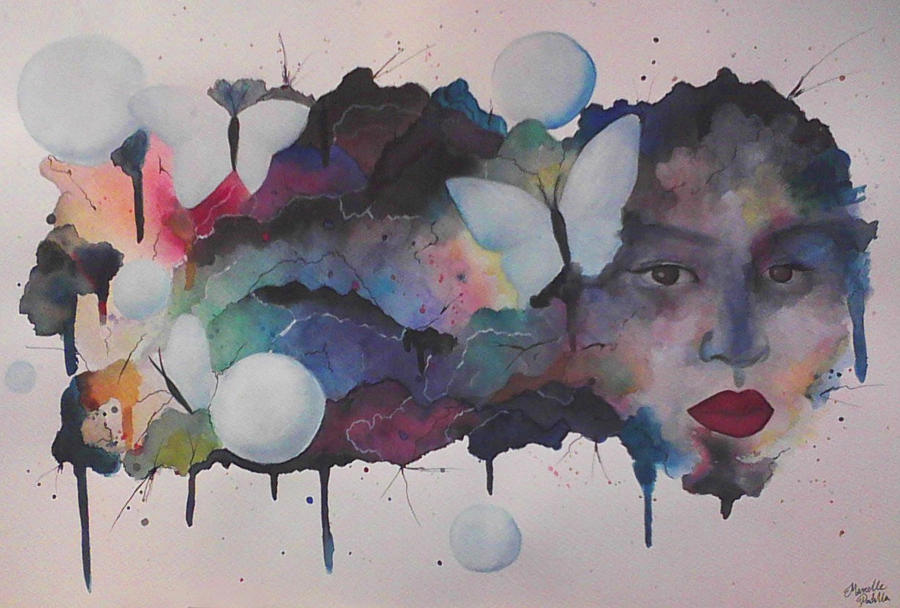 Abstract Watercolor Portraits Watercolor Portrait by