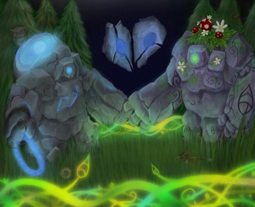 Blue And Daisy League Of Legends Fan Art By Bandgeekninja0723 On