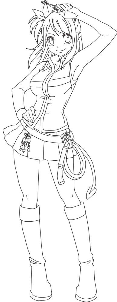 Fairy tail lucy heartfilia lineart by tigerguy123 on - Lucy fairy tail drawing ...