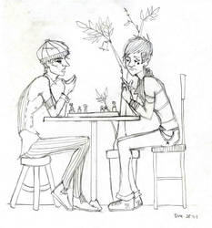 a heated game of chess