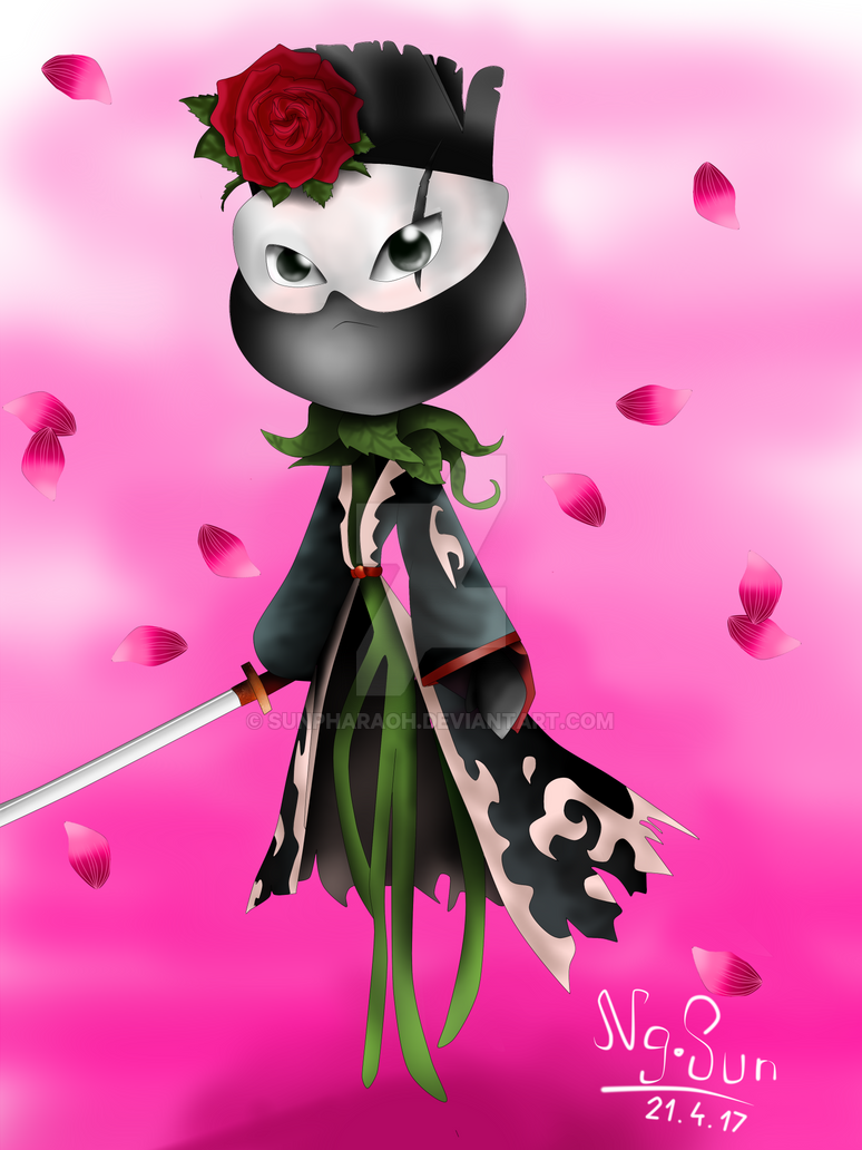 Katana rose version 2 by sunpharaoh