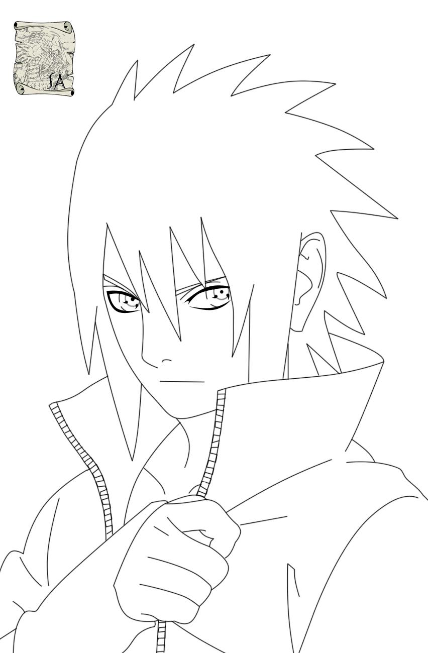 Sasuke Lineart : Sasuke noche lineart by s a on deviantart