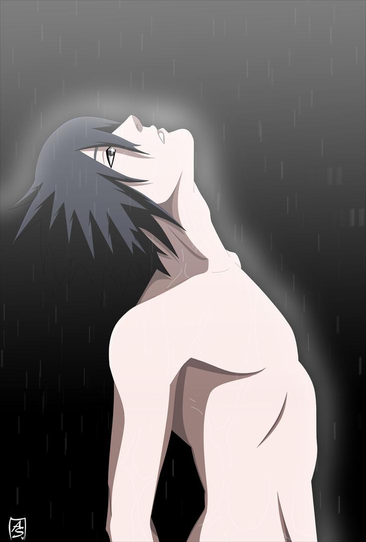 Sasuke under the rain by S-A18