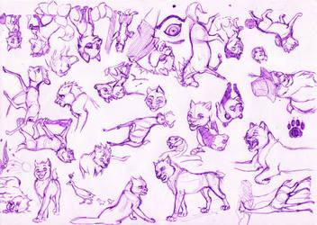 Bosetos de animales by cuentalatina