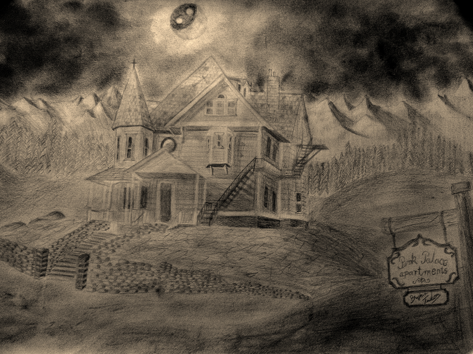 Coraline S House Drawing By Thriftycomic On Deviantart