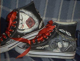 My Chemical Romance shoes by Gothic-Wolf