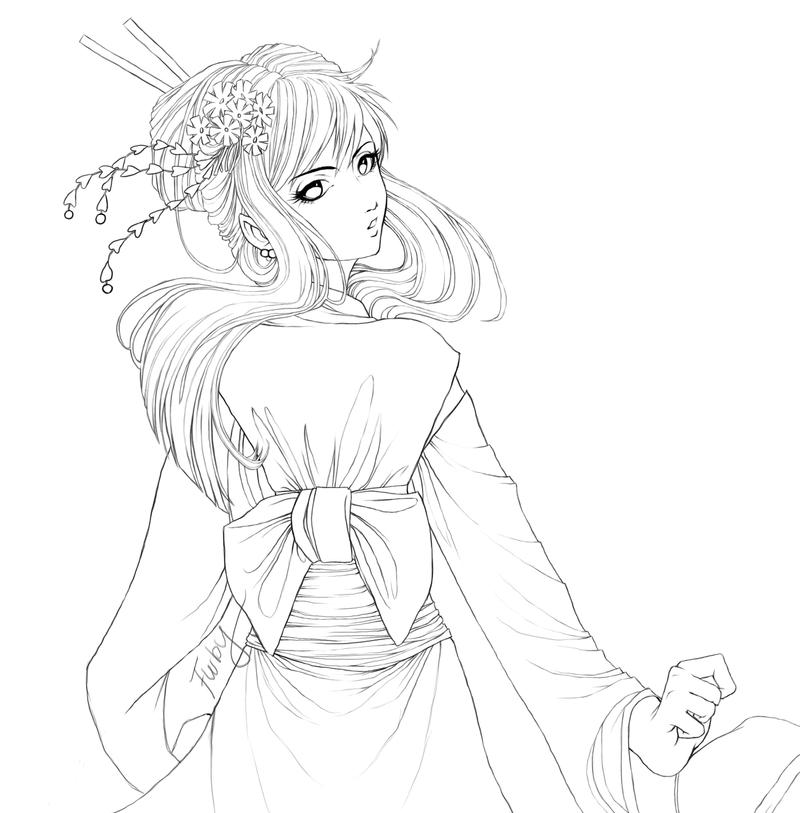 Kimono Outlines by Furby0305