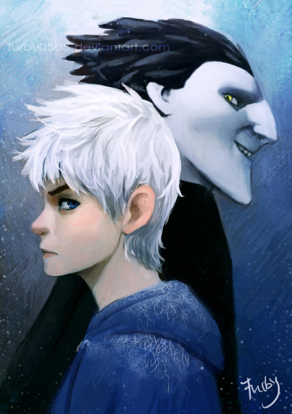 Pitch and Jack Frost by Furby0305