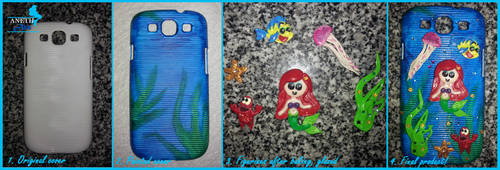 Little Mermaid Phone Cover - Progress Pic