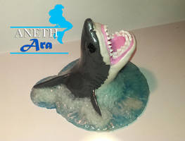 Great White Shark - Polymer Clay Sculpture