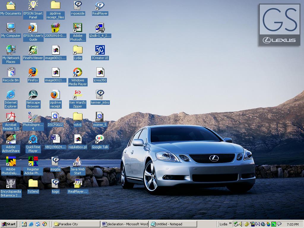 Lexus GS Desktop by effaced