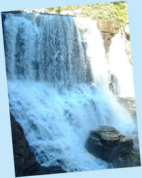 Waterfall With Rock