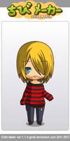 kurt cobain in striped shirt chibimaker