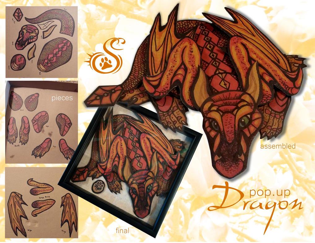 pop.up dragon by Saborcat