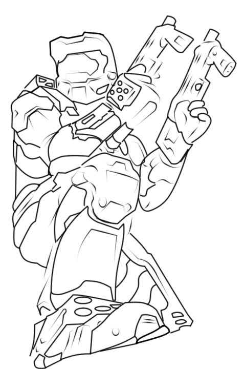 halo mega block coloring pages - photo#14