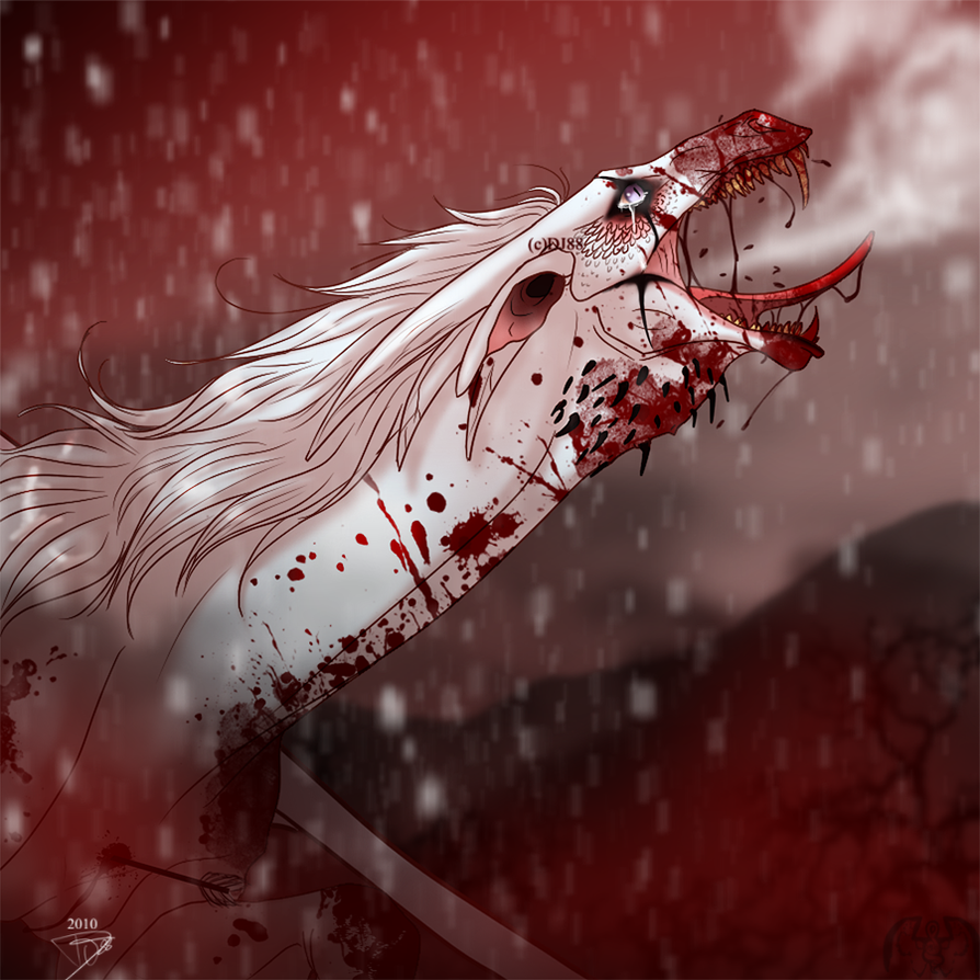 Albino death in Dragontown by DJ88