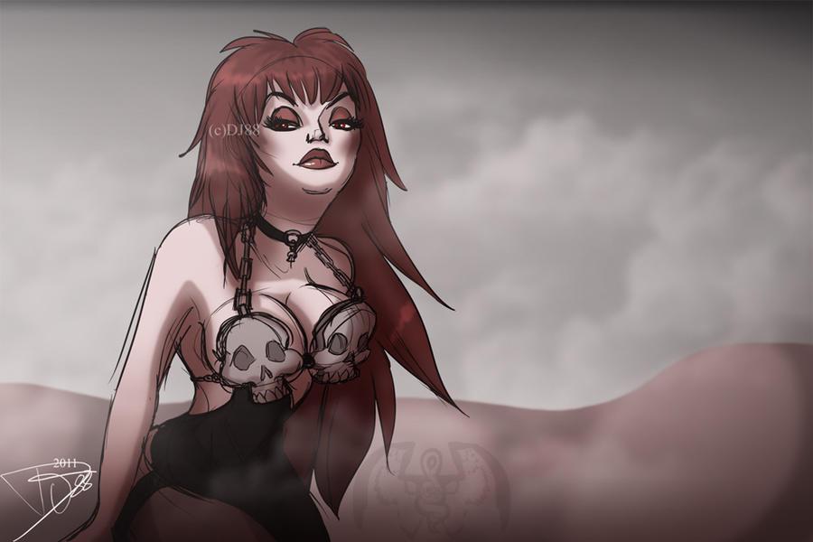 Dark Woman Sketch by DJ88